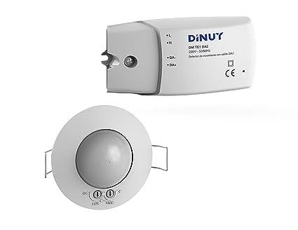 Dinuy - Detector empotrable techo equipos dali regulador luz