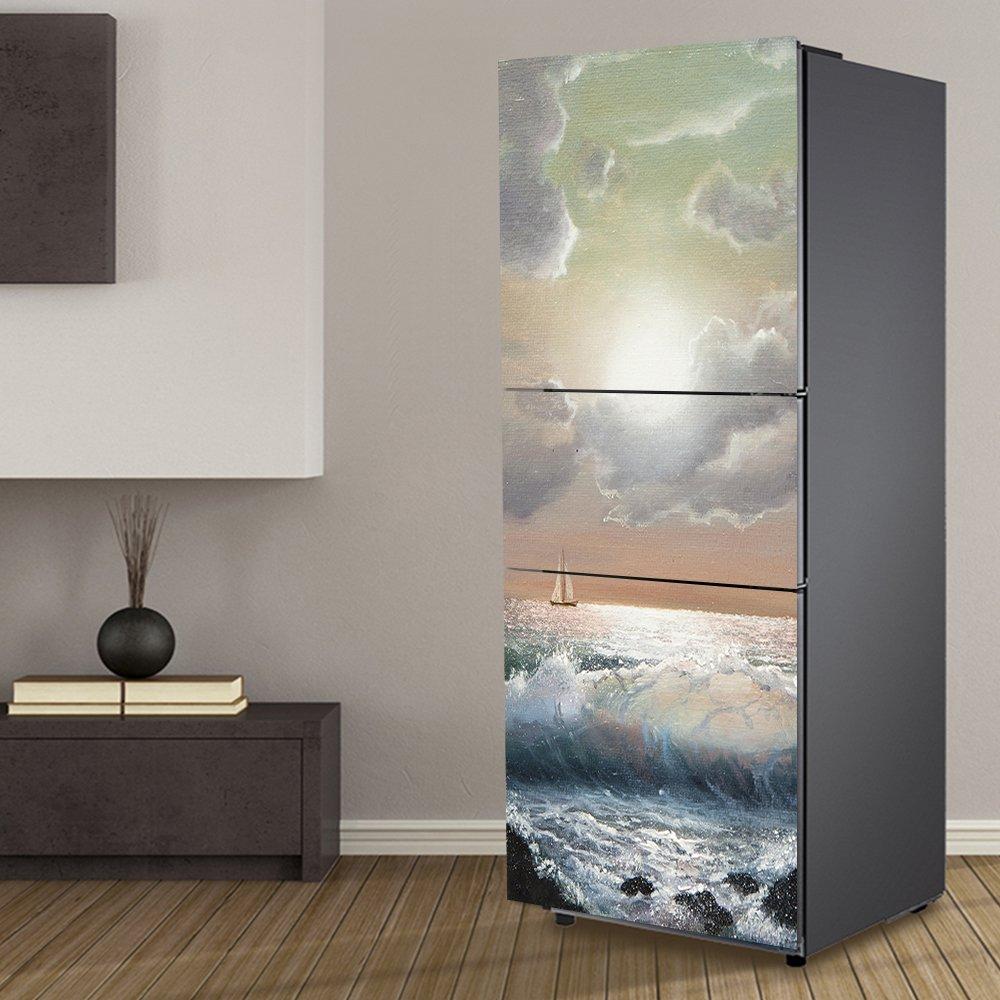 Yazi personalizzato porta frigo sticker Closet copertura autoadesivo decalcomania da parete corridoio murale