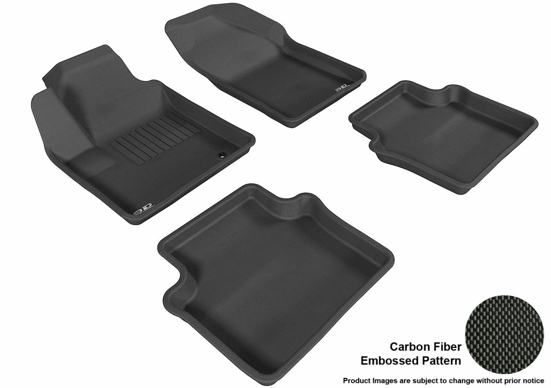 3D MAXpider Front Row Custom Fit All-Weather Floor Mat for Select Chrysler Sebring Models Kagu Rubber Black