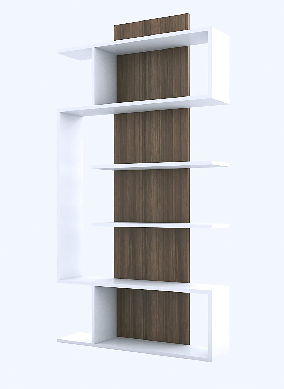 Bravo Home Bookcase (Walnut and White)