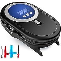 Myguru Auto Kompressor Luftpumpe, 150PSI Reifenpumpe Luftkompressor mit LED Digitalanzeige und Digital Manometer eintsellbar Reifendruck, 3M Kabel 3 Einstellbare Adapter für 12V DC Zigarettenanzünder