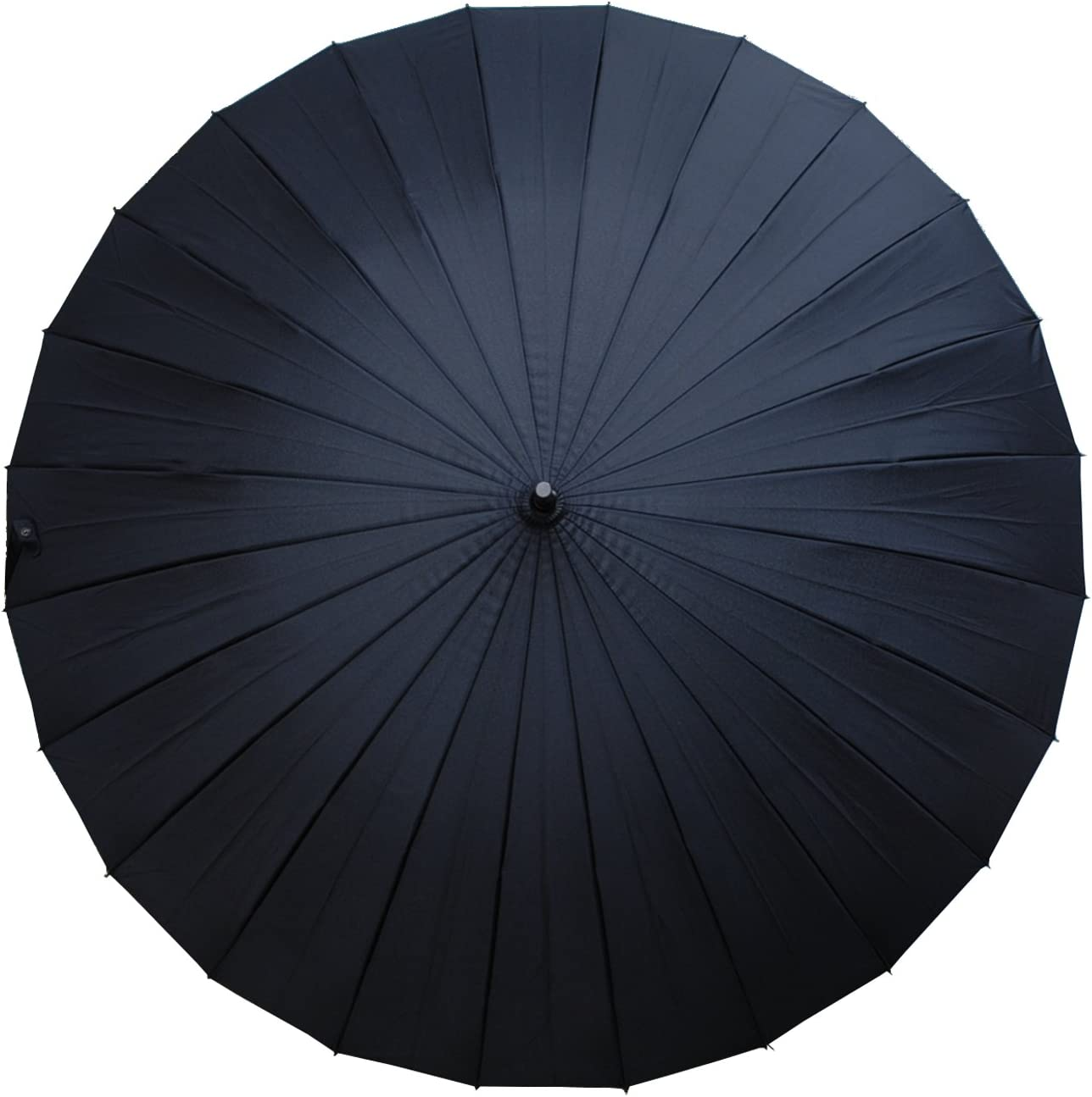 Black Solid Wood Hook Handle Windproof 60MPH Umbrella COLLAR AND CUFFS LONDON Automatic 24 Ribs EXTRA STRONG