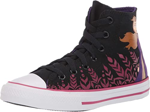 Converse Chuck Taylor All Star Elsa Hi WhiteBlue Heron Canvas Youth Trainers Shoes