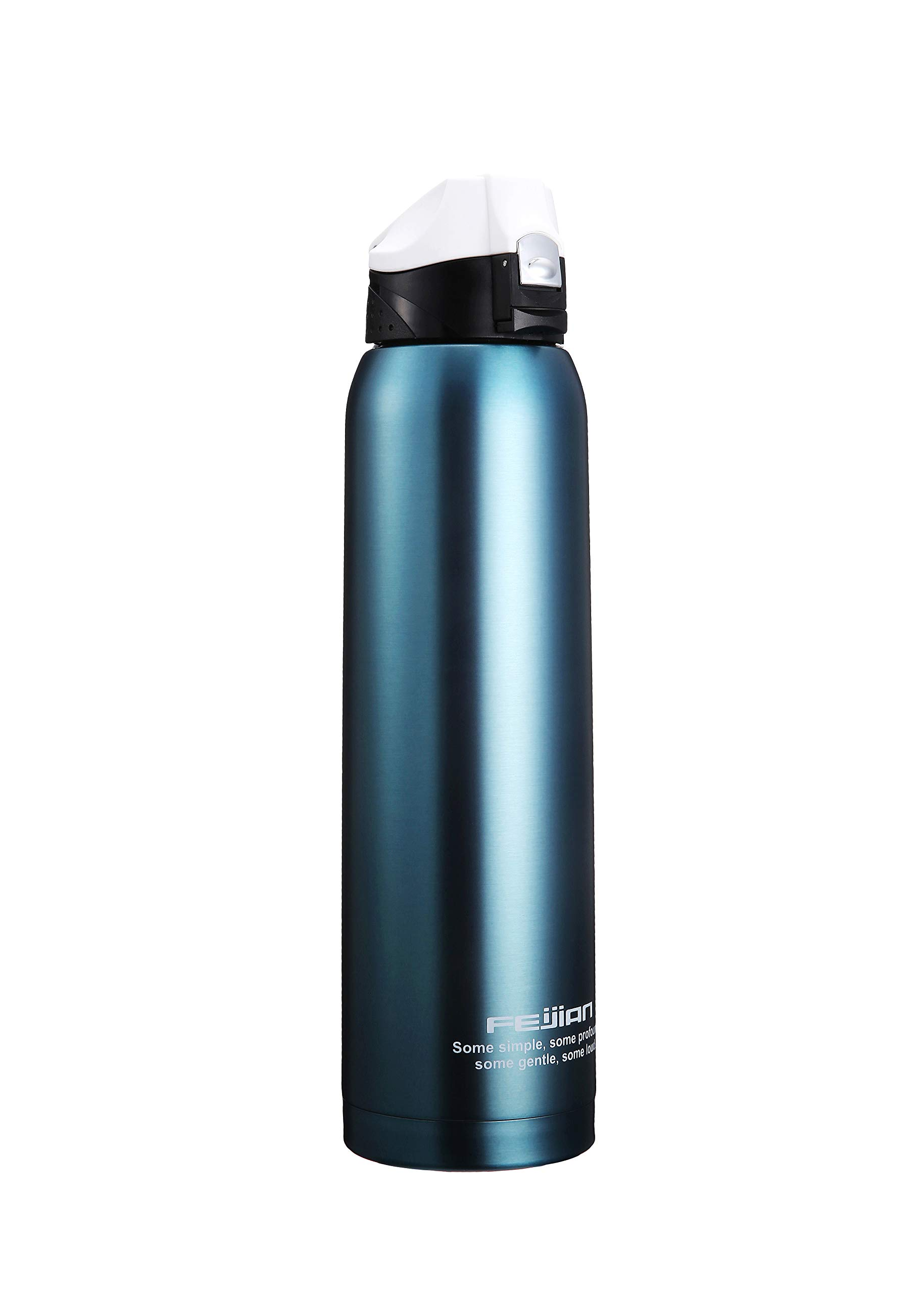 Stainless Steel Insulated Water Bottle - 36 OZ FEIJIAN (2018 New Arrival) Double Walled Vacuum Insulated 1 Liter Water Bottle Wide Mouth With Potarble Bag