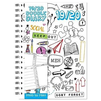 Agenda académica con dibujo de caniche y texto en inglés ...
