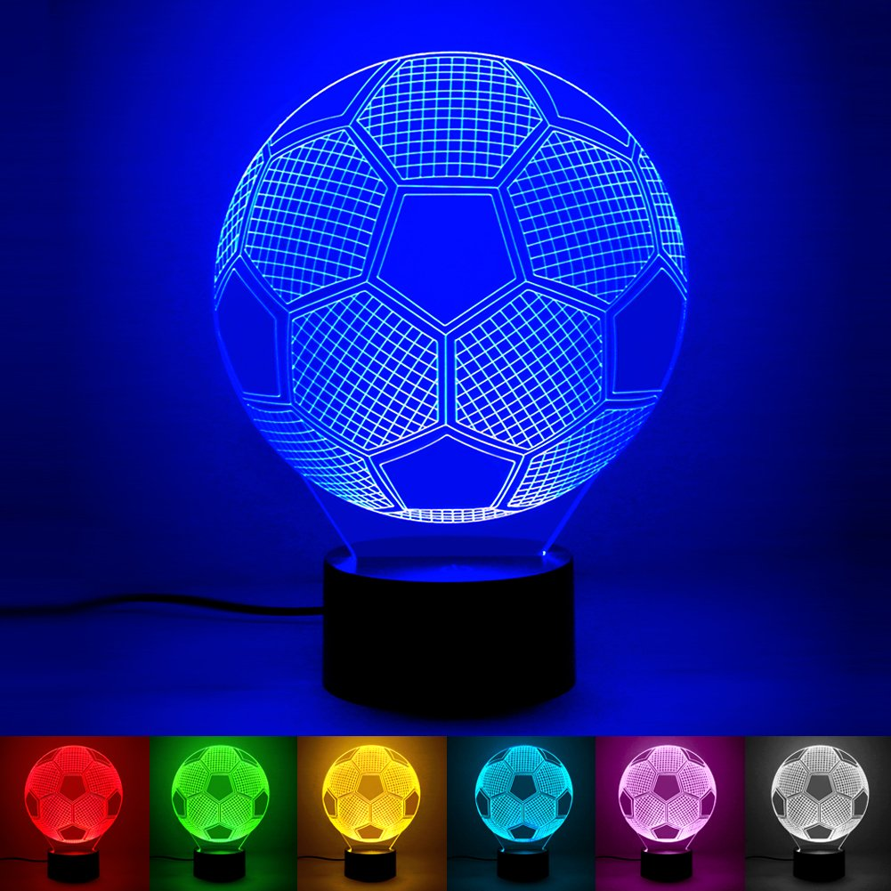 Soccer Lights for Bedroom - Amazing 3D Illusion with 7 Colors