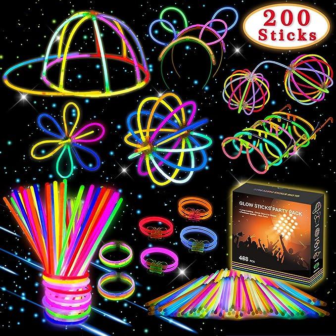 72 opinioni per Kimimara 200 Braccialetti Luminosi, Glow Stick Bagliore Colorato Bastoni Bulk