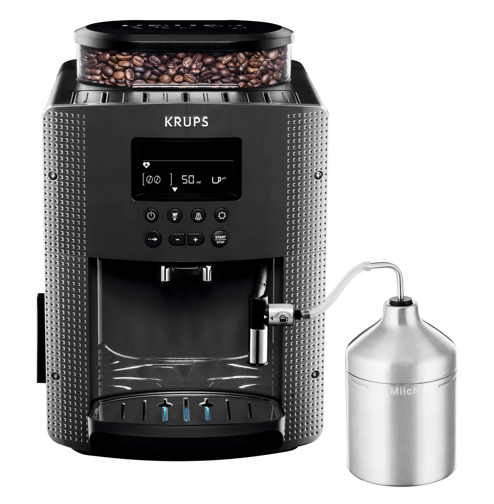 4e592a245514a4 Krups YY4081FD Machine à Café Automatique avec Broyeur à Grains Expresso  avec Mousseur à Lait Pot