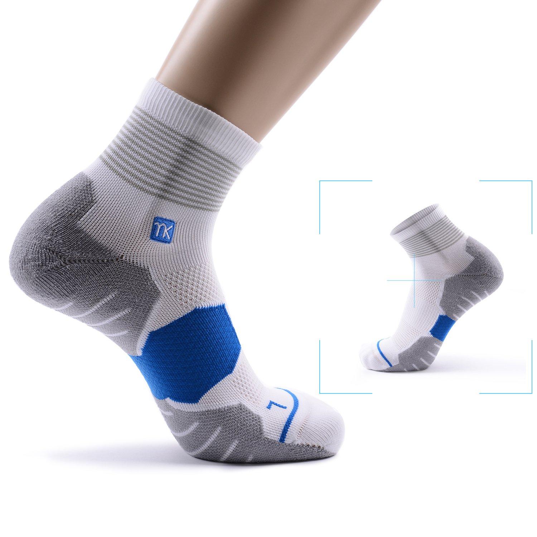 MEIKAN Deportivos Hombre Calcetines Deportivos MEIKAN Transpirable Funcionales Calcetines Running Tubo medio Espesar,39-44 3 par e7c67e