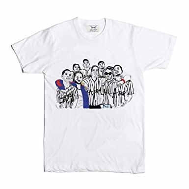 6795eed85a9c Amazon.com: Babes & Gents ASAP Mob A$AP Rocky Yams Ferg White Tee ...