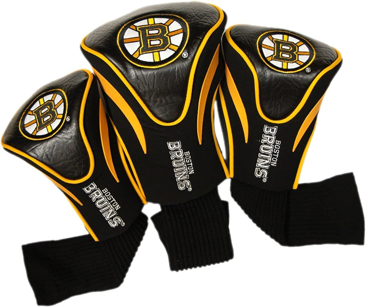 Team Golf NHL Contour Golf Club Headcovers (3 Count), Numbered 1, 3, & X, Fits Oversized Drivers, Utility, Rescue & Fairway Clubs, Velour lined for Extra Club Protection