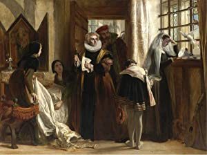 Berkin Arts John Callcott Horsley Giclee Print On Paper-Famous Paintings Fine Art Poster-Reproduction Wall Decor(Mary Queen of Scots in Captivity) #XZZ