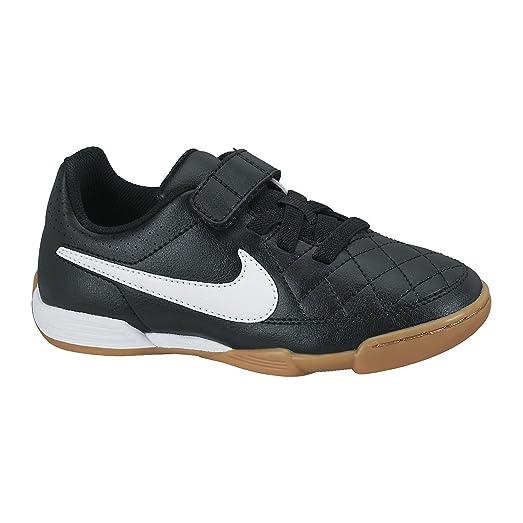 Hommes Nike Formateurs Tiempo En Noir Et Blanc Sur Le Plus Grand