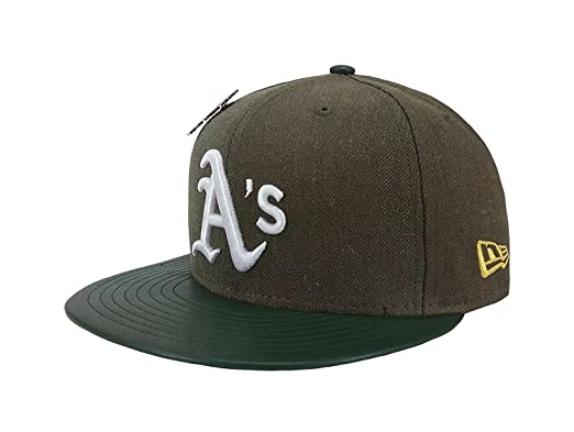 cc97e792949 New Era 59Fifty Hat Oakland Athletics Pin 9X Trophy MLB Green Fitted Cap (6  3