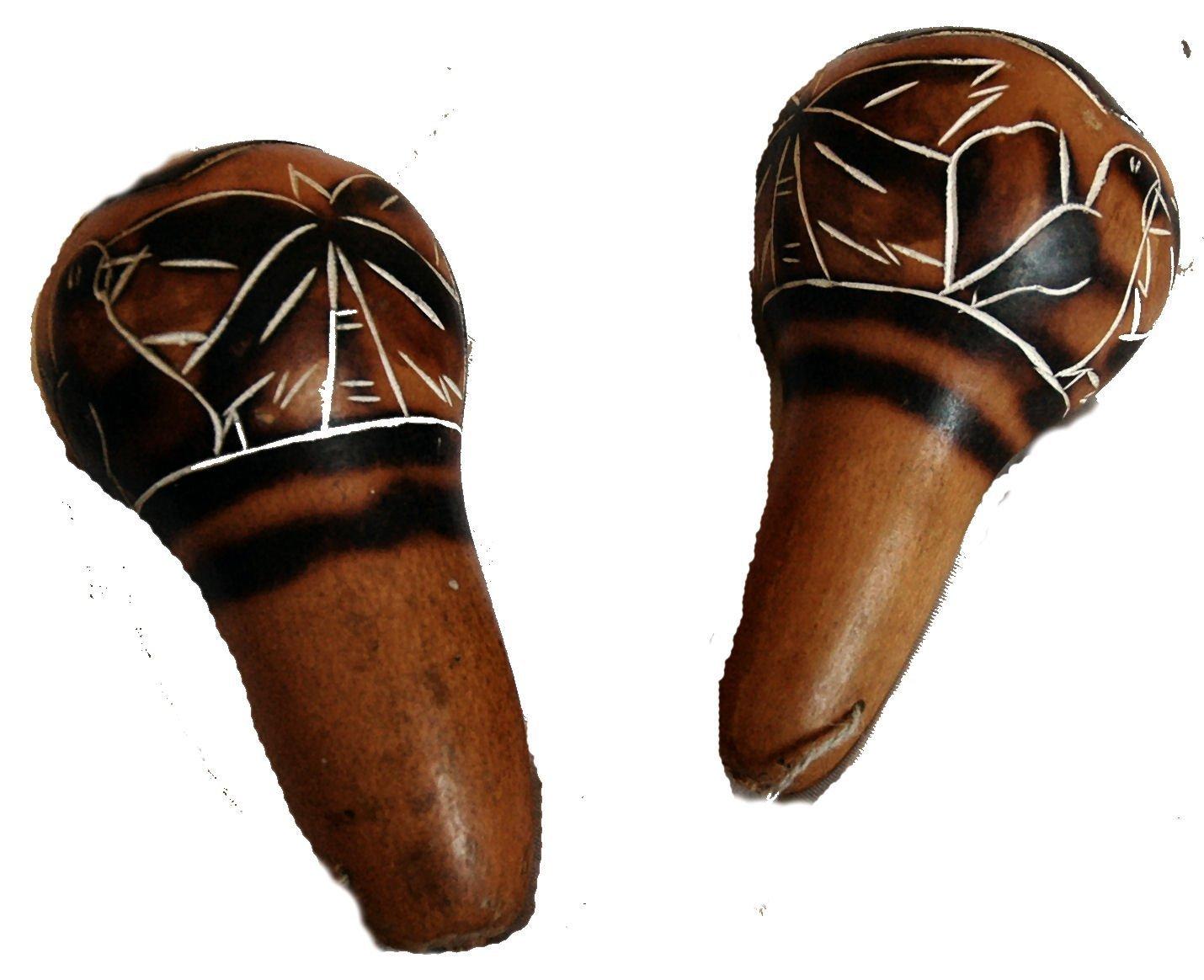 Fair Trade Amazonian Wooden Shaman Calabash Hand Rattle Maraca Kiki SR2