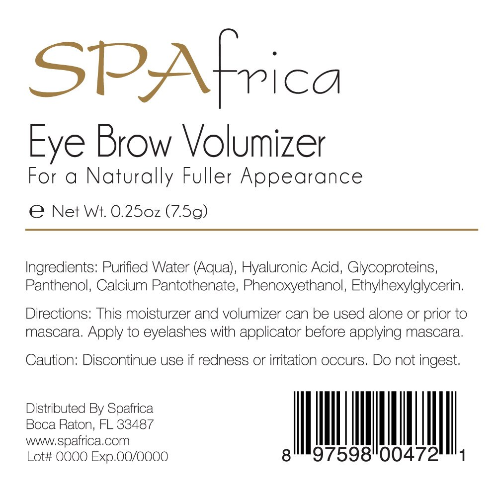 Amazon.com : Natural Ultra Eye Brow Volumizer | w/Hyaluronic Acid, Vitamin B5, Panthenol | Brush On | Moisturizing, Protecting, Nourishes to Help the ...