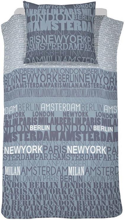 Cenicienta edredón City de colour azul de - 140 x 200 cm algodón: Amazon.es: Hogar