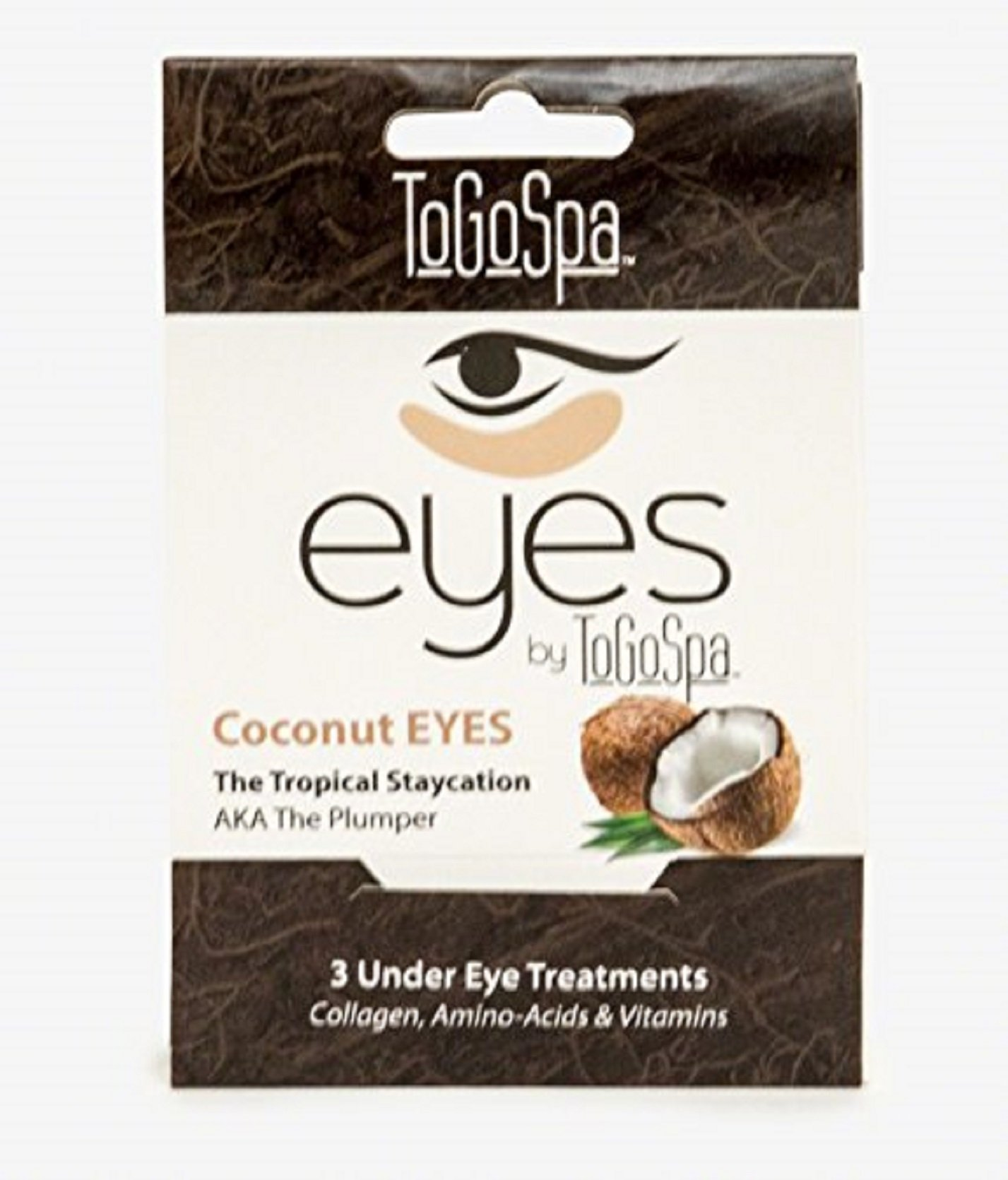 ToGoSpa Coconut EYES-Under Eye Repair- 1pk  3pr