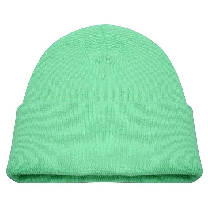 9623a6de6d9 PZLE Green Beanie Cycling Cap Green Mens Mint Green Winter Hat Caps ...