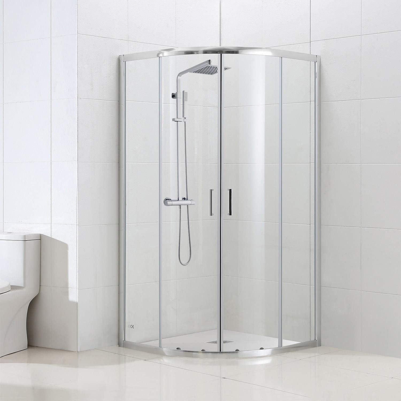 Vega - Mampara de ducha (900 x 900 mm): Amazon.es: Hogar