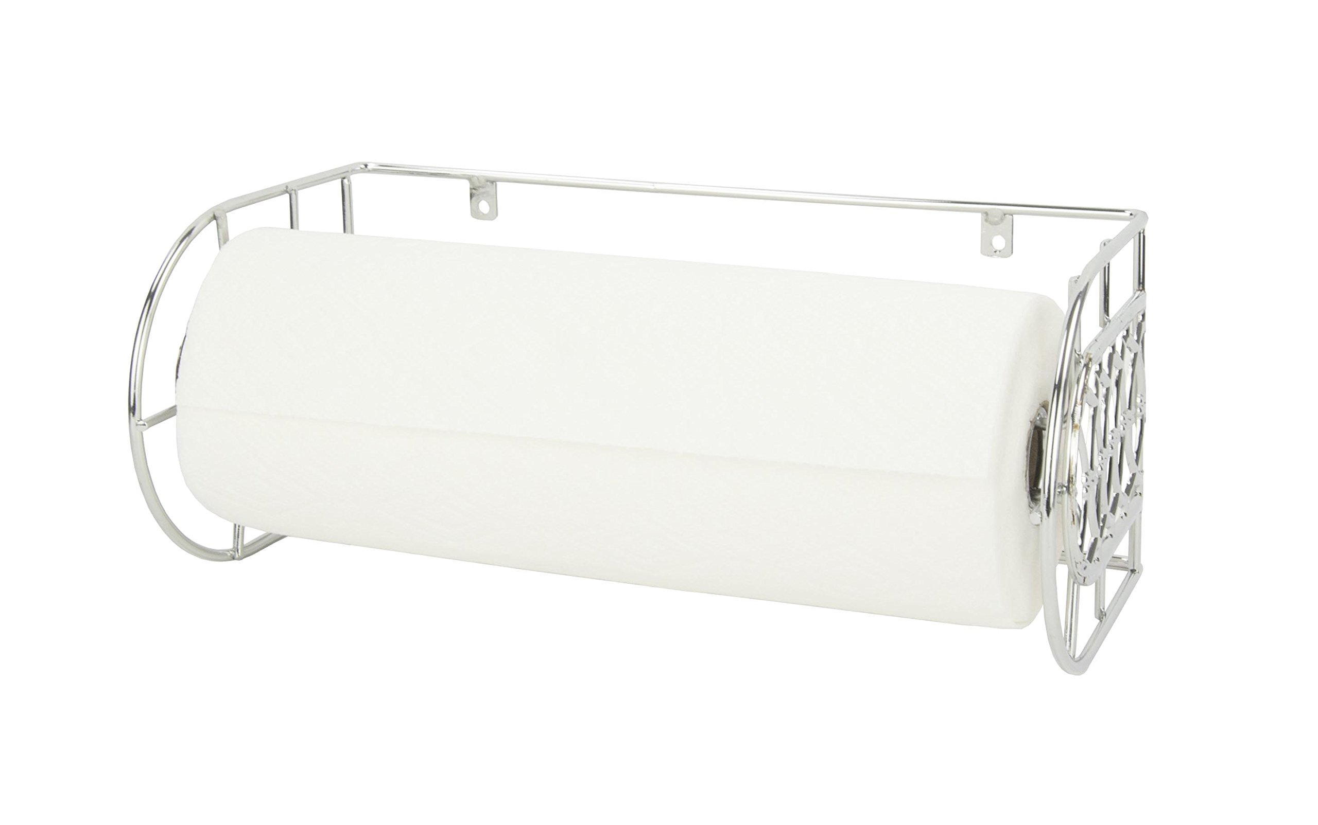 Home Basics Infinity Collection Wall Mounted Paper Towel Holder, Silver Chrome