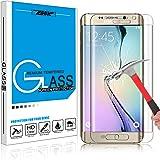 Samsung Galaxy S6 Edge(一枚クリア)専用強化ガラスフィルム ZENIC 9H硬度の液晶保護フィルム 気泡無 耐指紋 高透過率 超薄 0.3mm 3Dラウンドエッジ加工 全面カバーGalaxy S6 Edge新型フィルム(全五色)