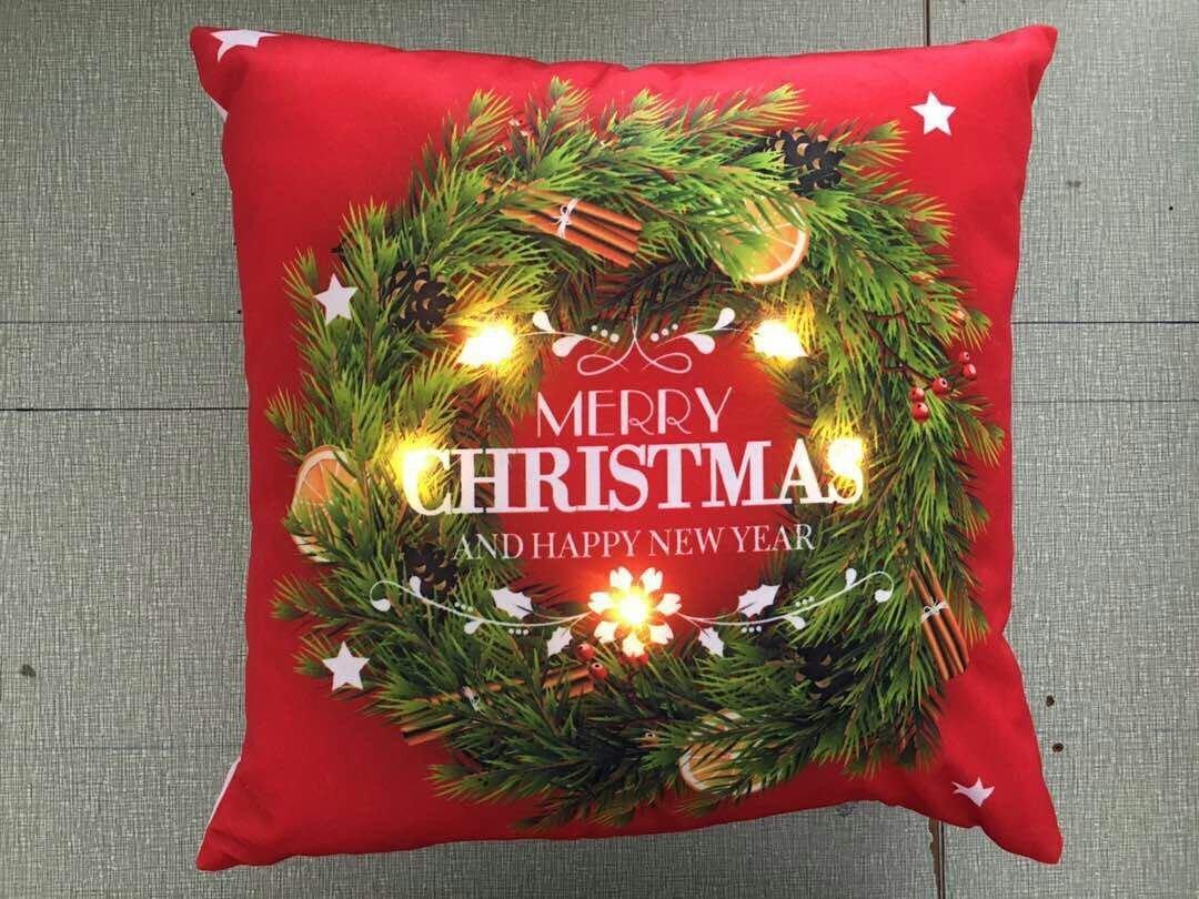 Frohe Weihnachten Kissen Frohes neues Jahr Geschenk, LED Beleuchtung ...