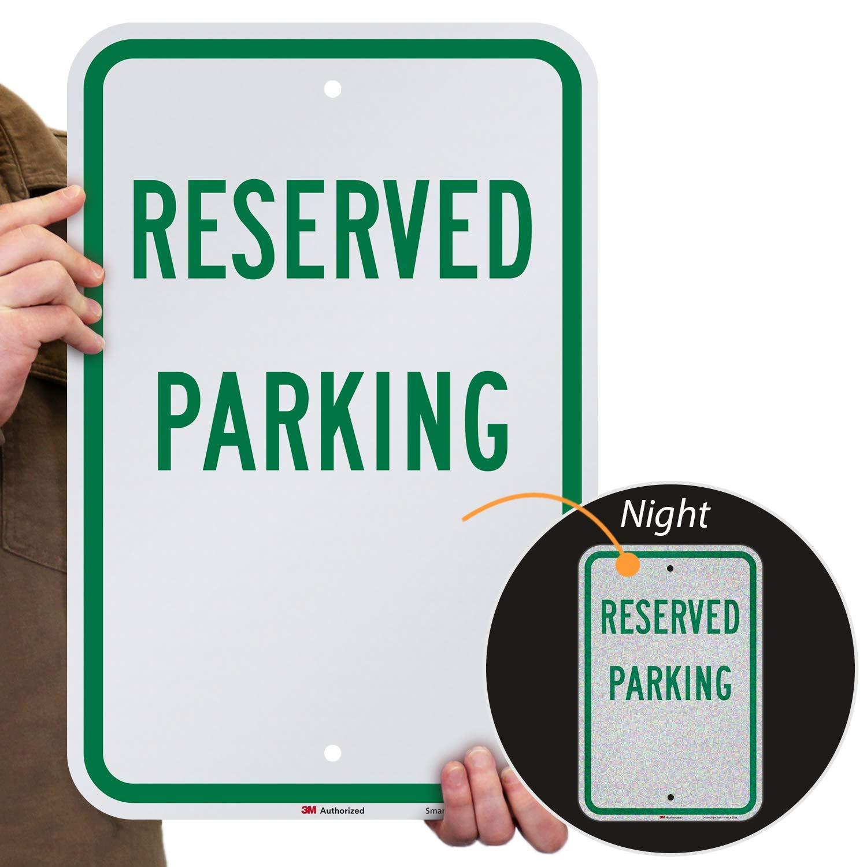 "SmartSign ""Reserved Parking"" Sign | 12"" x 18"" 3M Engineer Grade Reflective Aluminum"