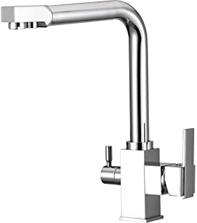 Water Filter Purified Faucet With 3 Way Kitchen Faucet Tap For Filtration  Stainless Steel   Contemporary