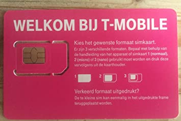 NEW T-Mobile nl 3 en 1 - 4 G Prepaid SIM Netherlands Holland ...