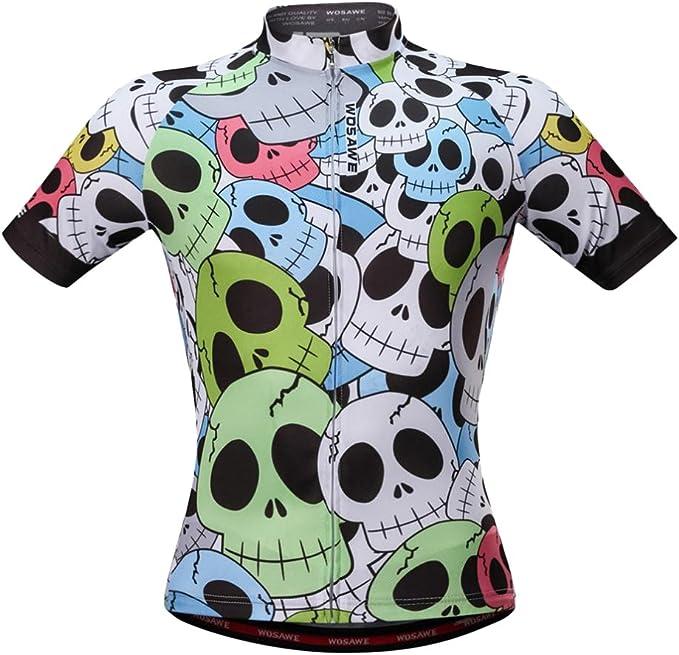 Männer Schädel Radfahren Jersey Sommer Bike Kurzarm Fahrrad Bekleidung Shirt Top