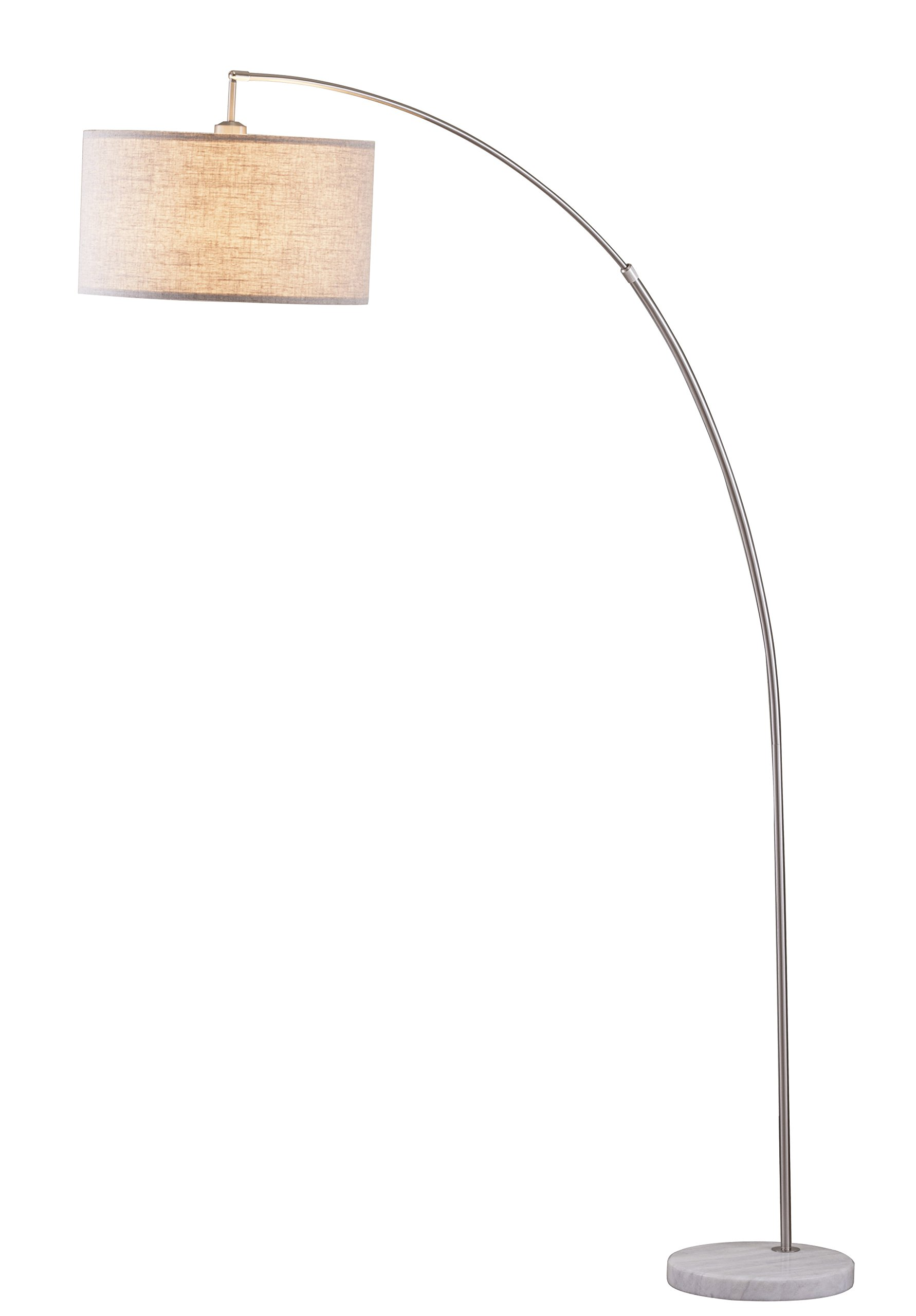 Major-Q 6931SN-LED 81'' H Steel Adjustable Arching Floor Lamp, by Major-Q (Image #1)