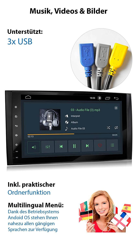 4G 2GB RAM XOMAX XM-V11ZA Radio de Coche con Android 10 Adecuado para Mercedes A//B W169 I 4Core 32GB ROM I GPS I Soporte WiFi OBD2 I Bluetooth I 9 Pantalla T/áctil I USB 3G RDS Dab+