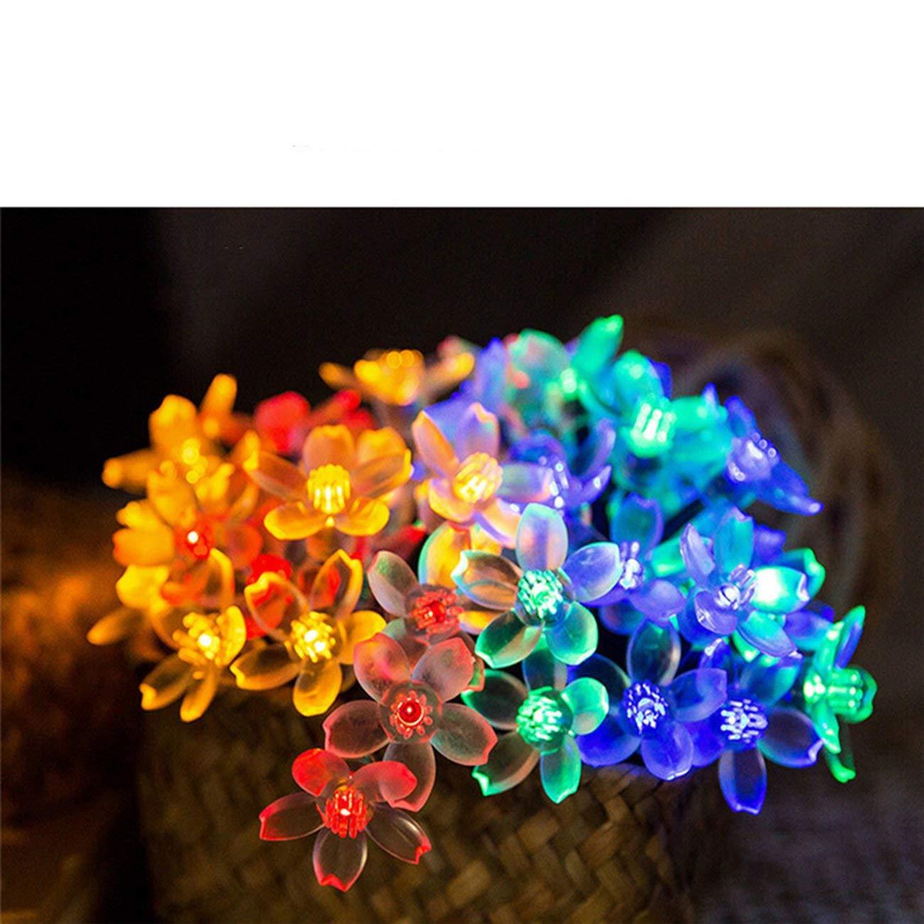 Elviray Wasserdichte LED Pfirsichbl/üte Solarenergie Lampe String Licht Outdoor Weihnachten Hochzeit Garten Party Dekorative Fee Licht