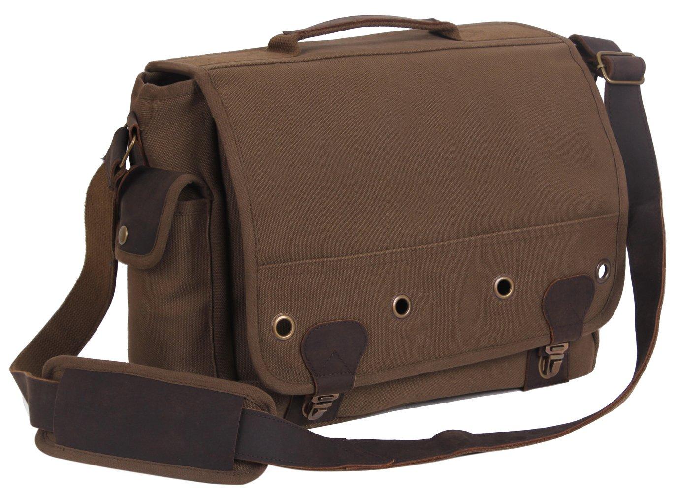 51cc8c8c288c Amazon.com: Rothco Canvas Trailblazer Laptop Bag, Earth Brown ...