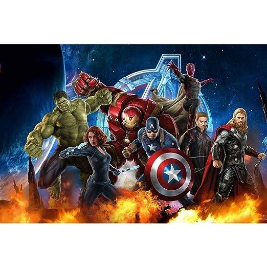 AMY-ZW Cómics Marvel Los Vengadores Rompecabezas Capitán ...