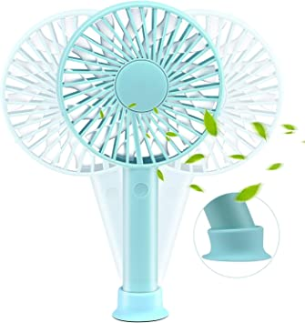 USB Table Desk Personal Fan Handheld Portable Silent Fan USB Charging for Office Room Outdoor Household Traveling for Home Office Table Color : Green, Size : One Size