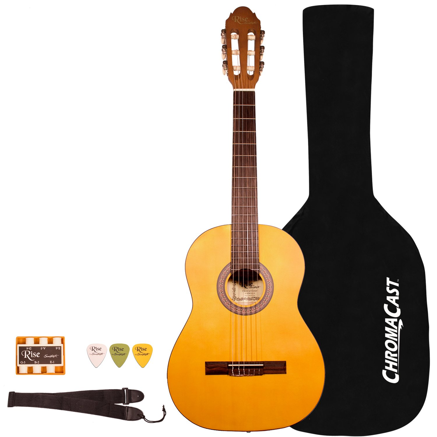 Rise by Sawtooth 6 String Acoustic Guitar Pack (ST-RISE-CL-3/4-N-KIT-2) GO-DPS