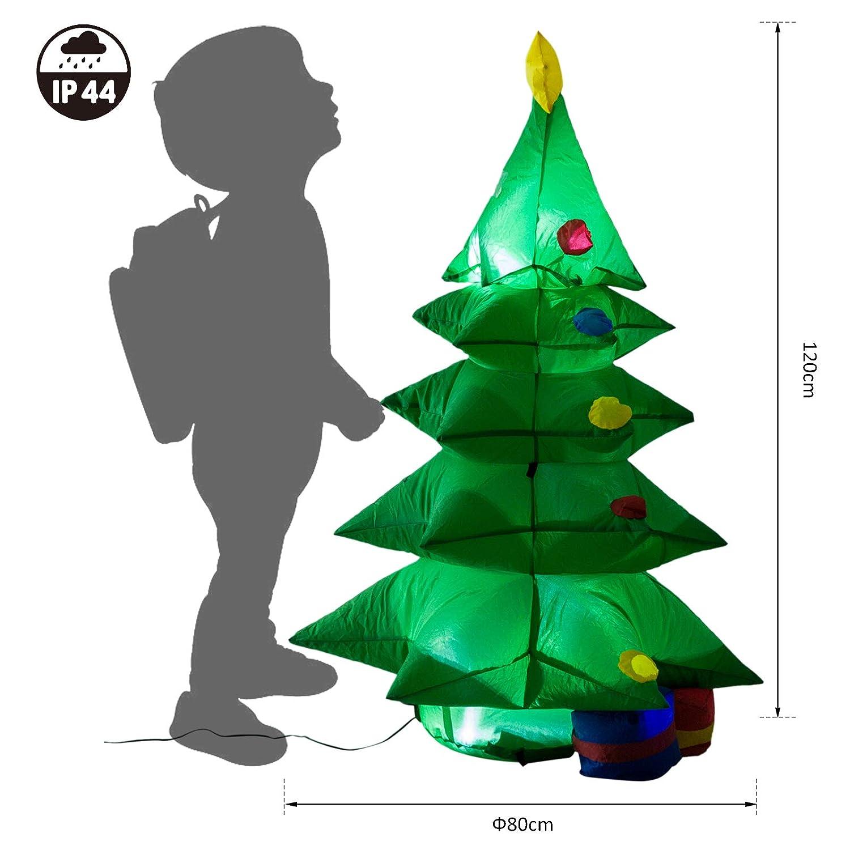Homcom - Árbol de Navidad hinchable con paquetes de regalo, luz ...