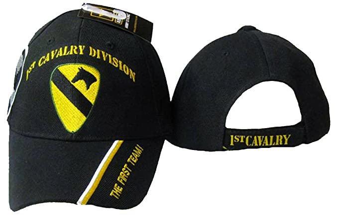 0ffc0e1c0e9c7 Image Unavailable. Image not available for. Color  1st CAV Cap Cavalry  Division Black Hat First Team ...