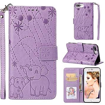 YKTO Vegan Leder Wallet Case iPhone 7 Plus, iPhone 8 Plus 5.5