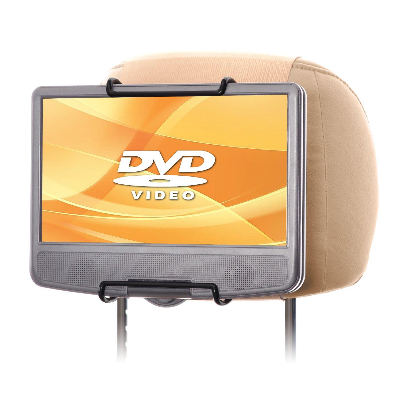 WANPOOL Car Headrest Mount Holder for Portable DVD Player, fit Swivel Screen & Standard Laptop Style Portable DVD Player, Beige (DVD Player is not included)