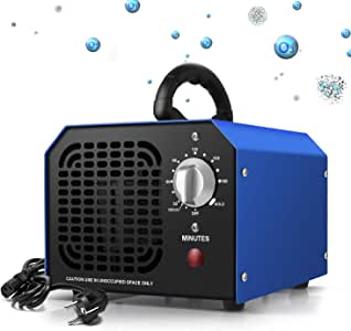 Generador de Ozono 6000 mg/ h Purificador Ozono de Aire Profesional con Temporizador de 180 min para Eliminaciónn de ...