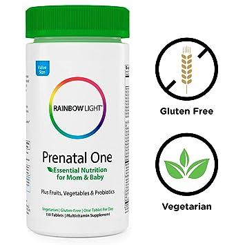 Rainbow luz sólo una vez Prenatal One Multivitaminas: Amazon.es: Salud y cuidado personal