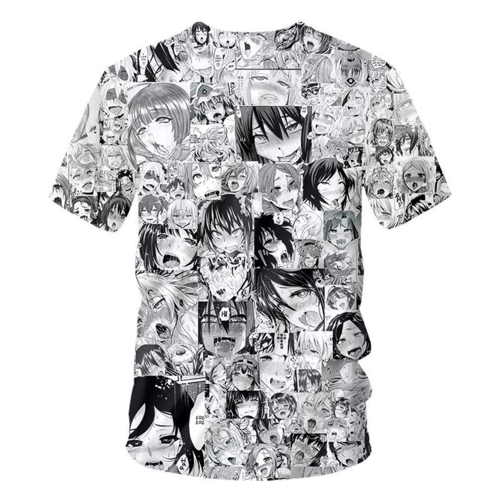 Novelty Streetwear Men Anime Funny Casual O-Neck T Shirts Fashion Harajuku Clothes