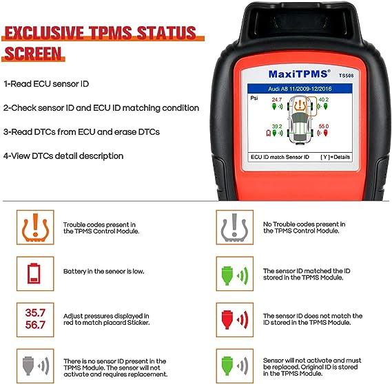 Autel Maxitpms Ts508 2021 Neueste Rdks Anlerngerät Programm Mx Sensoren 315 433mhz Reifensensor Neu Lernen Aktivieren Schlüssel Anhänger Singal Check Upgraded Ver Von Ts501 Ts408 Navigation
