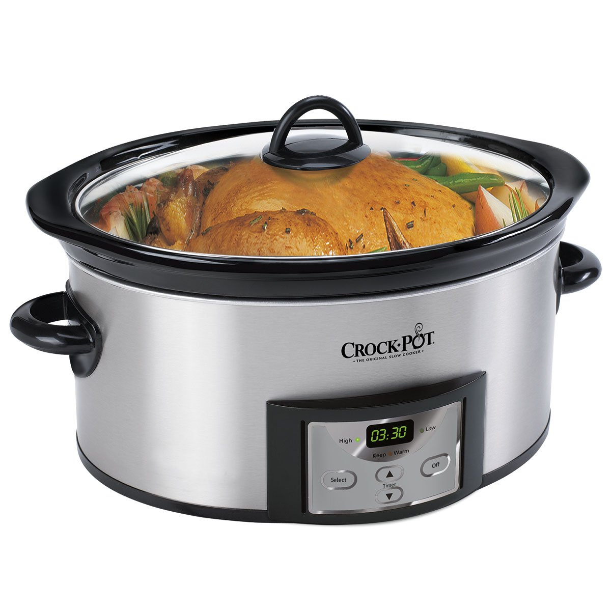 Crock-Pot® 6 Qt High Polish Slow Cooker - Stainless Steel