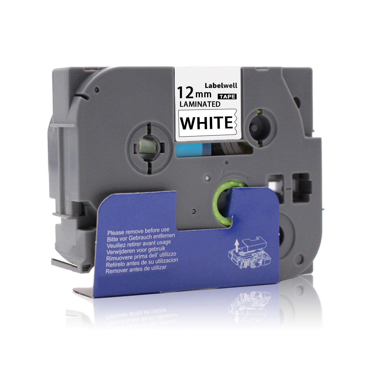 5x Labelwell 12mm x8m Compatibile Brother Tze-231 Tze231 Tz-231 Nastri Etichette Nero su Bianco con Brother P-Touch PT H101C H110 H105 2030VP P750W E100 H101GB D210VP Etichettatrice,1//2 x 26.2