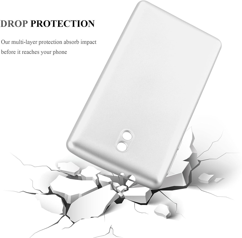 Rayures Ultra Slim Fin Gel Case Cover Bumper Cadorabo Coque pour Nokia 3 2017 en Metallic Or Rose Choc et Anti Housse Protection Souple en Silicone TPU avec Anti