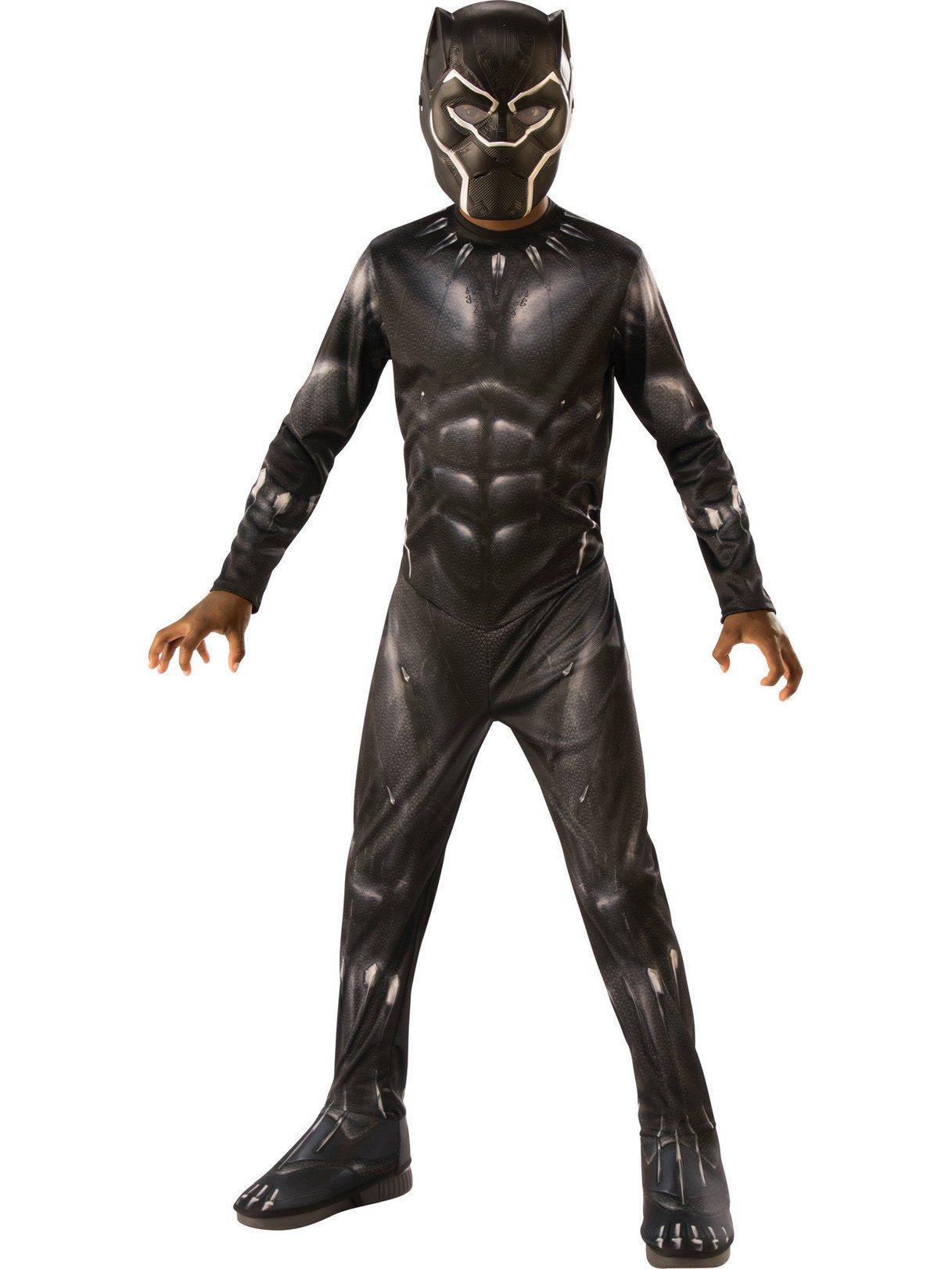 Rubie's Black Panther Child's Costume, Black/Grey, Medium